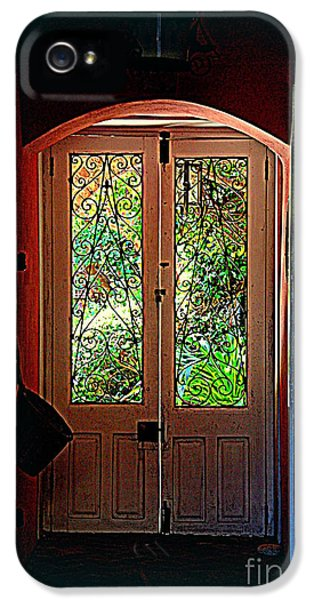 House Door 7 In Charleston Sc  IPhone 5 Case by Susanne Van Hulst