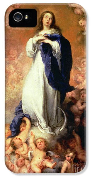 Immaculate Conception Of The Escorial IPhone 5 Case by Esteban Murillo