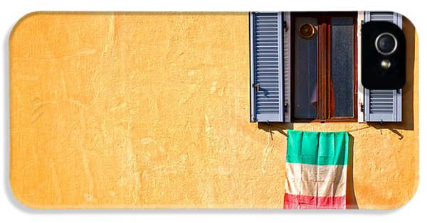 Italian Flag Window And Yellow Wall IPhone 5 Case
