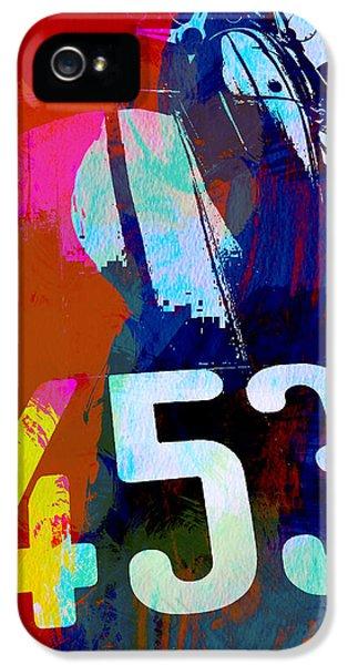 Jaguar E Type Watercolors IPhone 5 Case by Naxart Studio