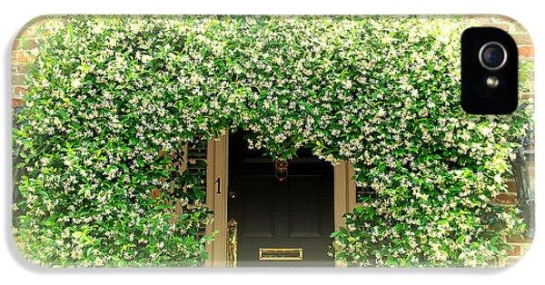 Jasmine Covered House Door In Charleston Sc IPhone 5 Case by Susanne Van Hulst