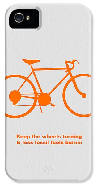 Bicycle iPhone 5 Case - Keep The Wheels Turning by Naxart Studio