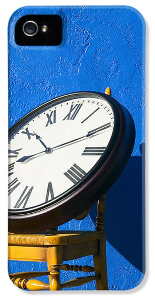 Large Clock On Yellow Chair IPhone 5 Case