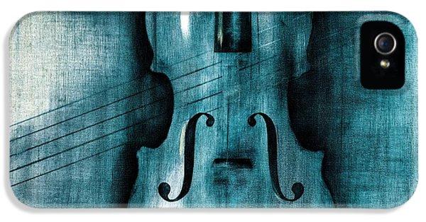 Violin iPhone 5 Case - Le Violon Bleu by Hakon Soreide