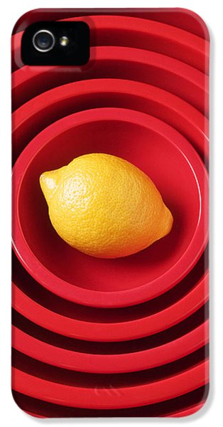 Lemon iPhone 5 Case - Lemon In Red Bowls by Garry Gay