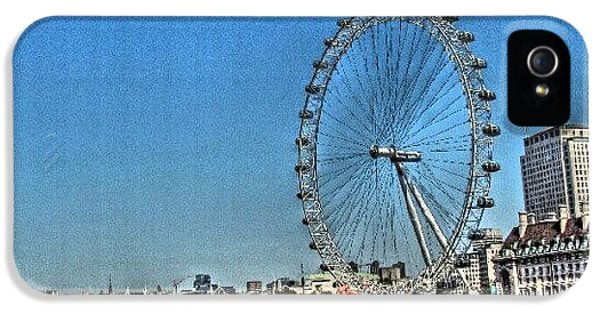 London Eye, #london #londoneye IPhone 5 Case by Abdelrahman Alawwad