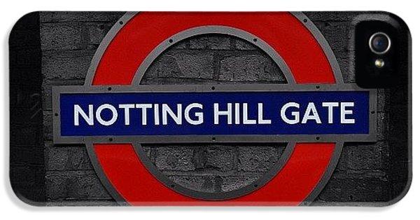#london #nottinghillgate #underground IPhone 5 Case