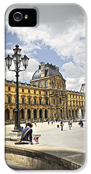 Louvre iPhone 5 Case - Louvre Museum by Elena Elisseeva