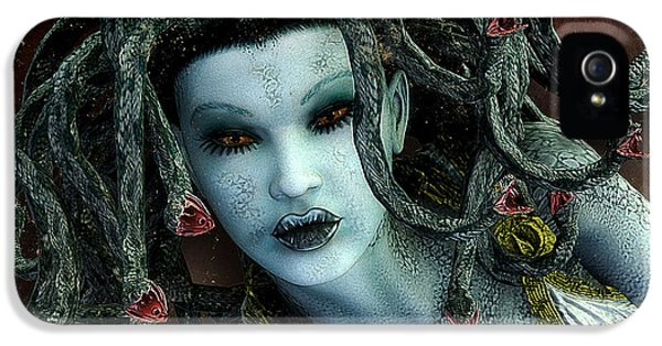 Medusa IPhone 5 Case by Jutta Maria Pusl