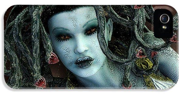 Medusa IPhone 5 Case by Jutta Maria Pusl