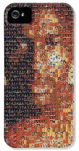 Michael Jordan Card Mosaic 1 IPhone 5 Case by Paul Van Scott