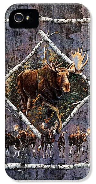 Bull iPhone 5 Case - Moose Lodge by JQ Licensing