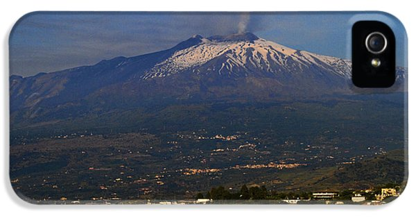 Etna iPhone 5 Case - Mount Etna by David Smith
