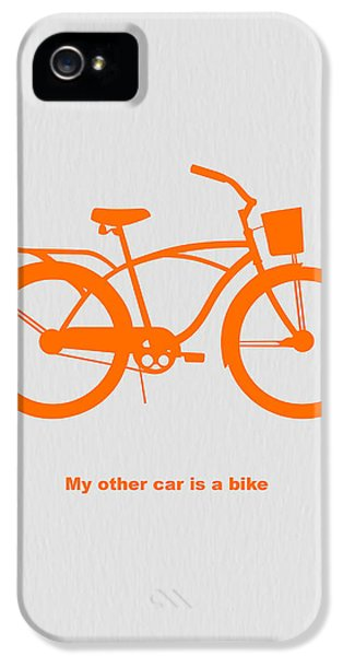 Bicycle iPhone 5 Case - My Other Car Is Bike by Naxart Studio