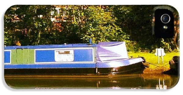 Narrowboat In Blue IPhone 5 Case