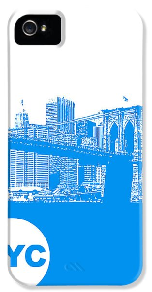 New York Poster IPhone 5 Case by Naxart Studio