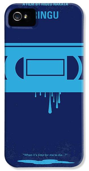 No070 My Ringu Minimal Movie Poster IPhone 5 Case by Chungkong Art