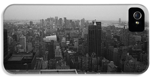 Chrysler Building iPhone 5 Case - Nyc From The Top 5 by Naxart Studio
