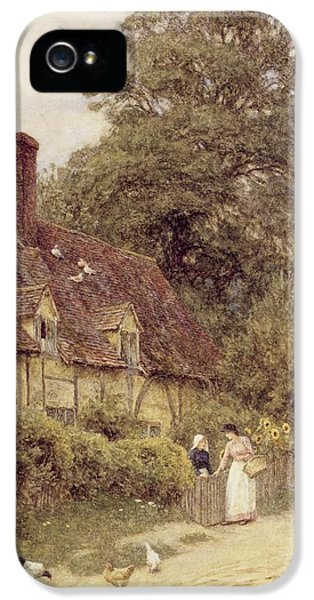 Old Post Office Brook Near Witley Surrey IPhone 5 Case by Helen Allingham