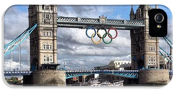 London2012 iPhone 5 Case - Olympic Rings On Tower Bridge #london by Luke Cameron