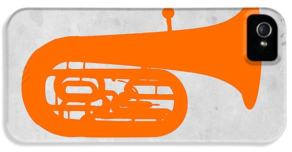 Trombone iPhone 5 Case - Orange Tuba by Naxart Studio