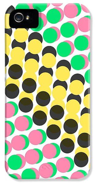 Overlayed Dots IPhone 5 Case by Louisa Knight