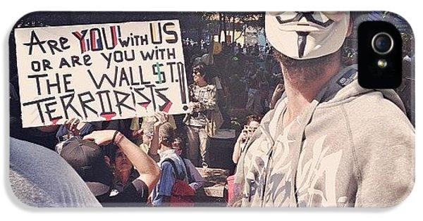 Summer iPhone 5 Case - Ows Occupy Wall Street by Randy Lemoine