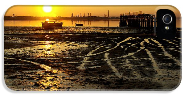 Pier At Sunset IPhone 5 Case by Carlos Caetano