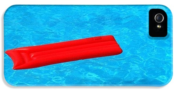 Cool iPhone 5 Case - Pool - Blue Water And Red Airbed by Matthias Hauser