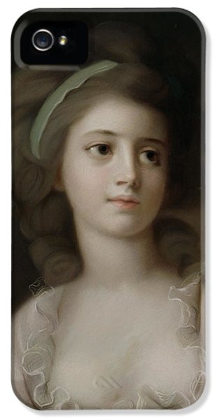 Portrait Of A Young Lady IPhone 5 Case by French School