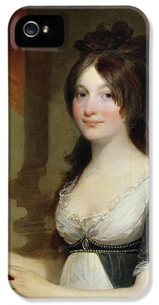 Portrait Of A Young Woman IPhone 5 Case by Gilbert Stuart