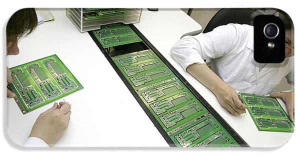 Printed Circuit Board Assembly Work IPhone 5 Case by Ria Novosti