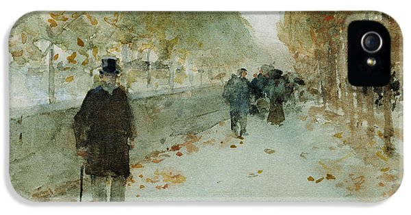 Louvre iPhone 5 Case - Quai Du Louvre by Childe Hassam