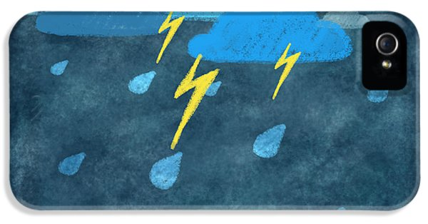 Rainy Day With Storm And Thunder IPhone 5 Case by Setsiri Silapasuwanchai