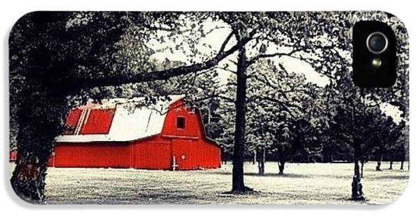 Edit iPhone 5 Case - Red Barn by Mari Posa