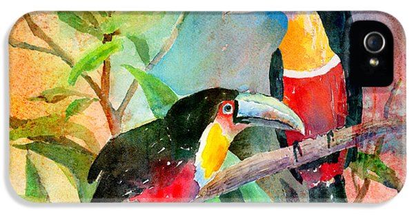Red-breasted Toucans IPhone 5 Case by Arline Wagner