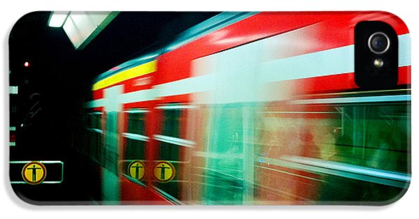 Red Train Blurred IPhone 5 Case by Matthias Hauser