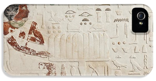 Relief Of Ka-aper With Offerings - Old Kingdom IPhone 5 Case by Egyptian fourth Dynasty