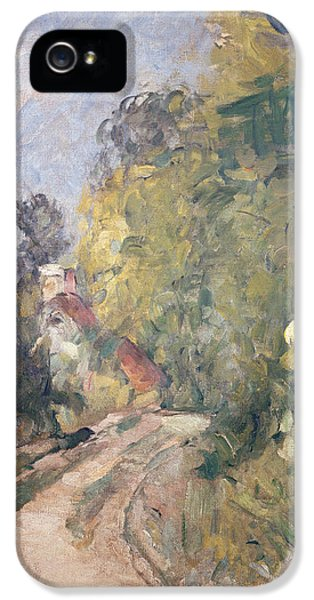 Road Turning Under Trees IPhone 5 Case by Paul Cezanne