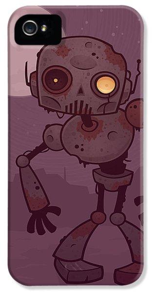 Rusty Zombie Robot IPhone 5 Case by John Schwegel