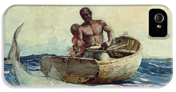 Shark Fishing IPhone 5 Case by Winslow Homer