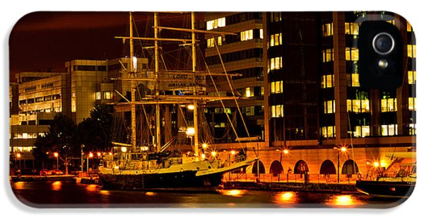 Ship In Dock IPhone 5 Case by Dawn OConnor