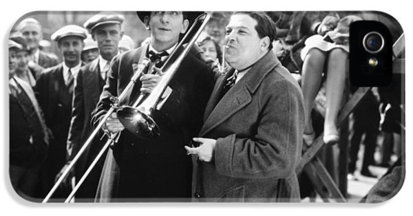 Trombone iPhone 5 Case - Silent Still: Musicians by Granger