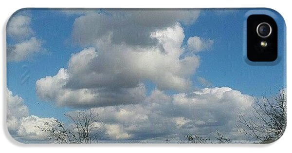 Sky iPhone 5 Case - Soft And Fluffy by Abbie Shores