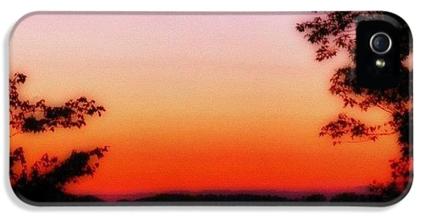 Edit iPhone 5 Case - Soft Sunset In The Smokies by Mari Posa