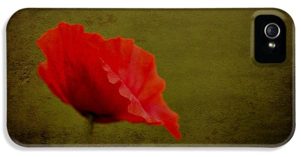 IPhone 5 Case featuring the photograph Solitary Poppy. by Clare Bambers