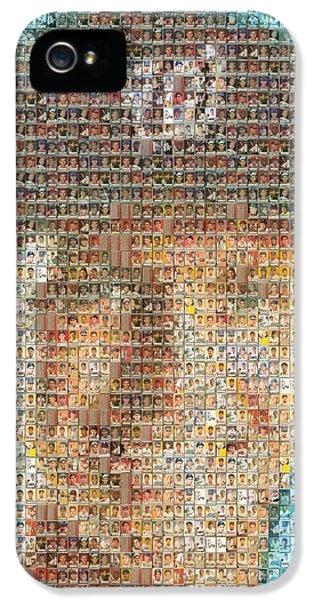 Stephen Strasburg Card Mosaic IPhone 5 Case by Paul Van Scott