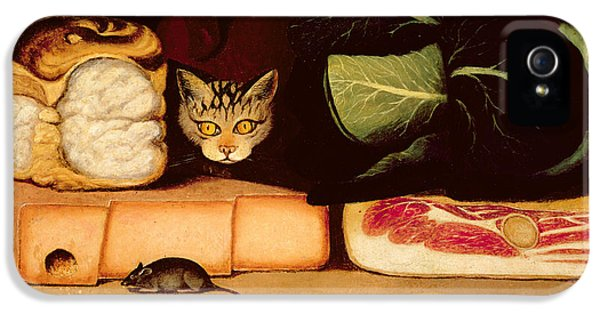 Still Life With Cat And Mouse IPhone 5 / 5s Case by Anonymous