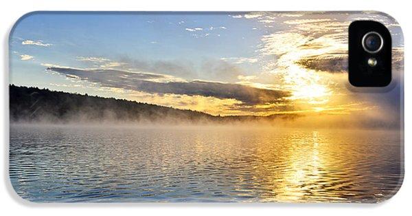 Sunrise On Foggy Lake IPhone 5 Case