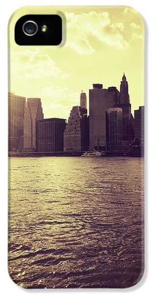 City iPhone 5 Case - Sunset Over Manhattan by Vivienne Gucwa